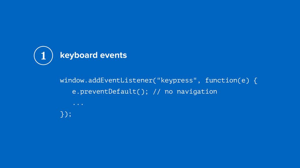 "keyboard events window.addEventListener(""keypre..."