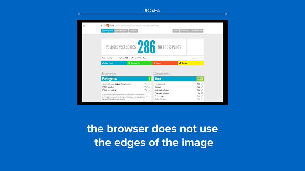 the browser does not use the edges of the imag...