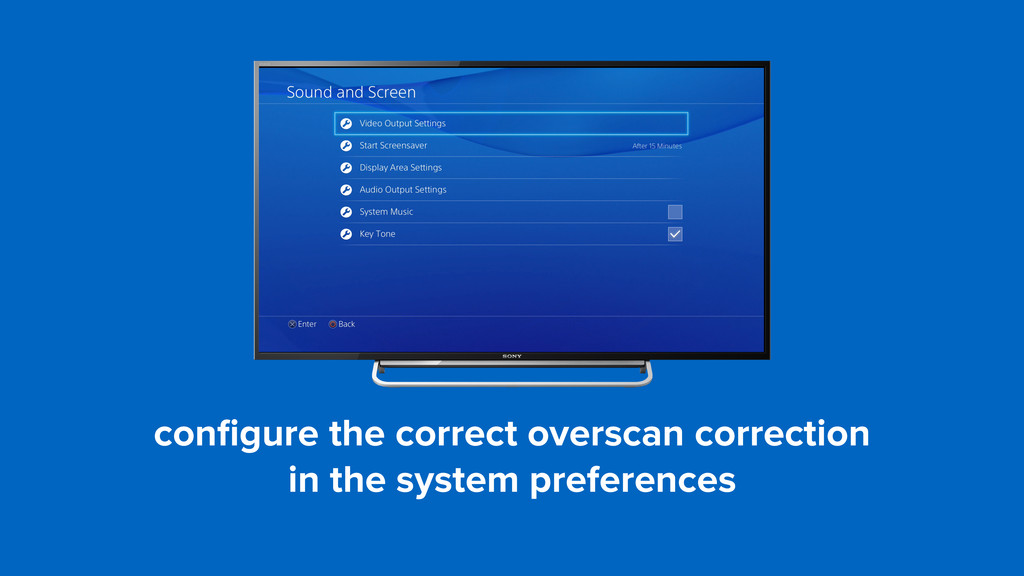 configure the correct overscan correction  in t...