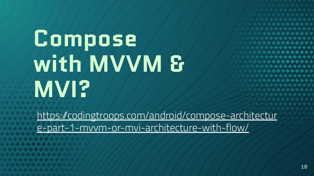 Compose with MVVM & MVI? https:/ /codingtroops....