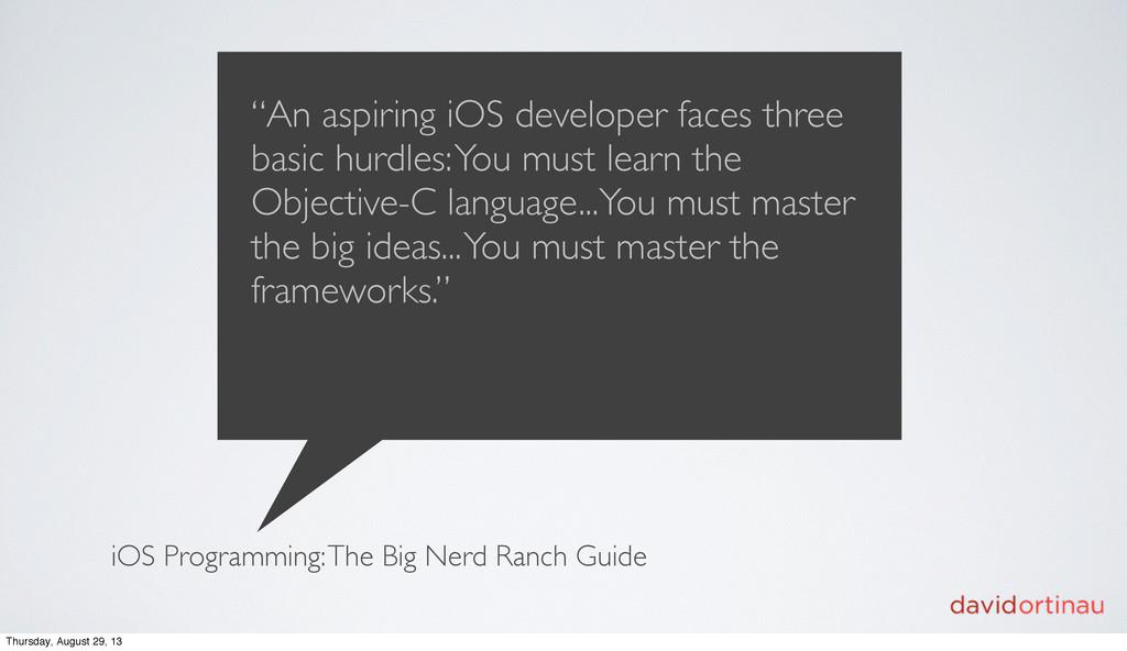 "iOS Programming: The Big Nerd Ranch Guide ""An a..."