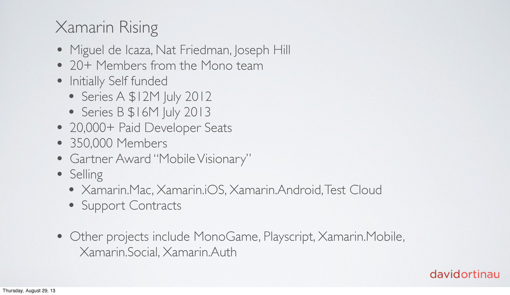 Xamarin Rising • Miguel de Icaza, Nat Friedman,...