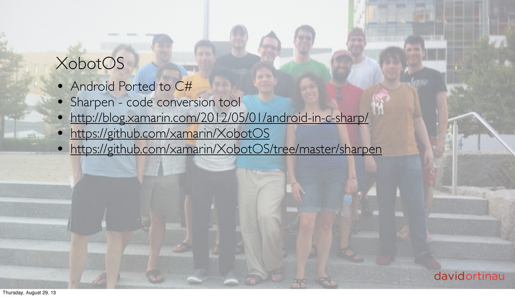 XobotOS • Android Ported to C# • Sharpen - code...