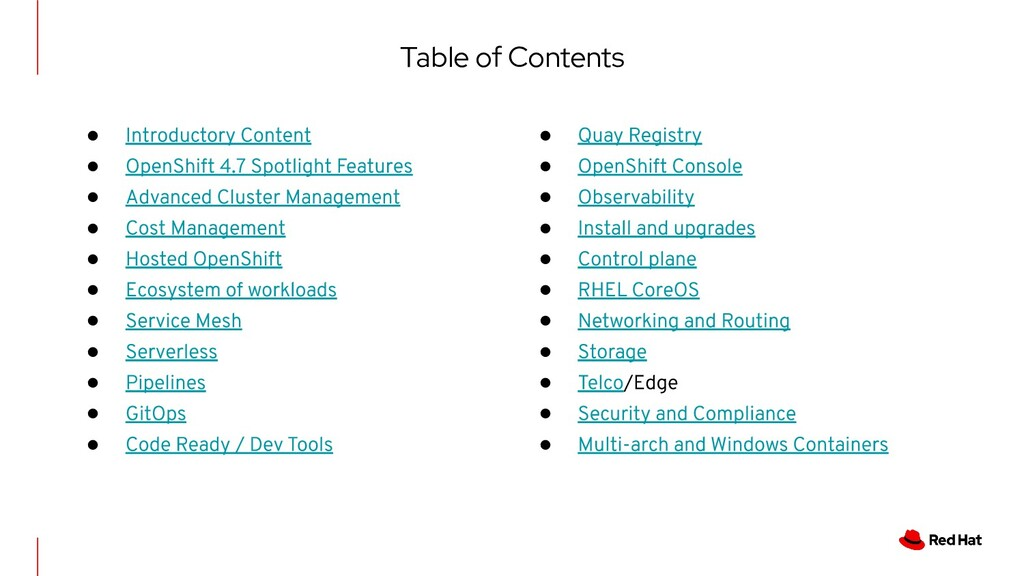 Table of Contents ● ● ● ● ● ● ● ● ● ● ● ● ● ● ●...
