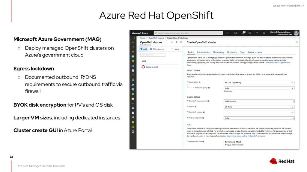 What's new in OpenShift 4.7 Microsoft Azure Gov...