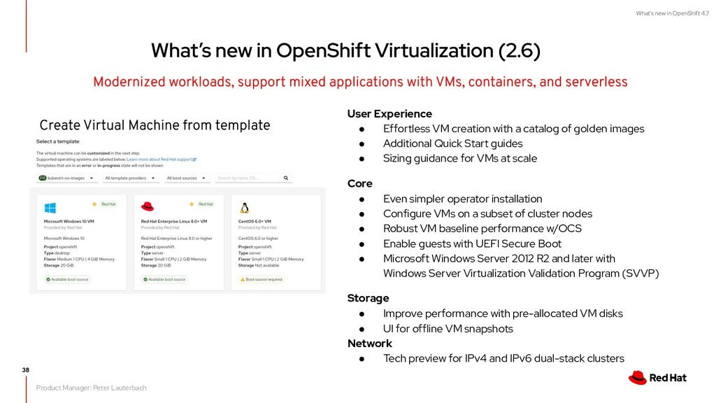 What's new in OpenShift 4.7 User Experience ● E...