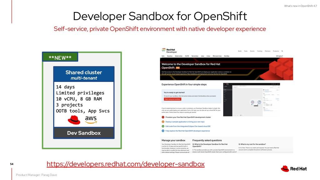V0000000 What's new in OpenShift 4.7 Self-servi...
