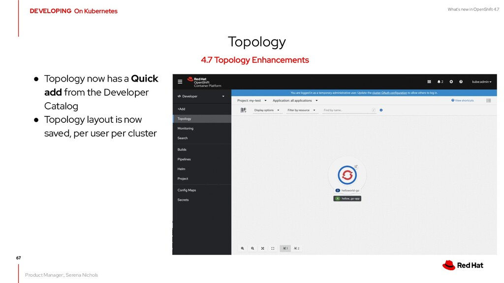 What's new in OpenShift 4.7 Topology Product Ma...