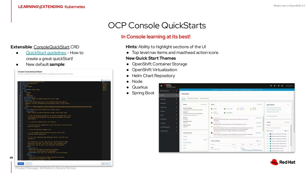 What's new in OpenShift 4.7 OCP Console QuickSt...