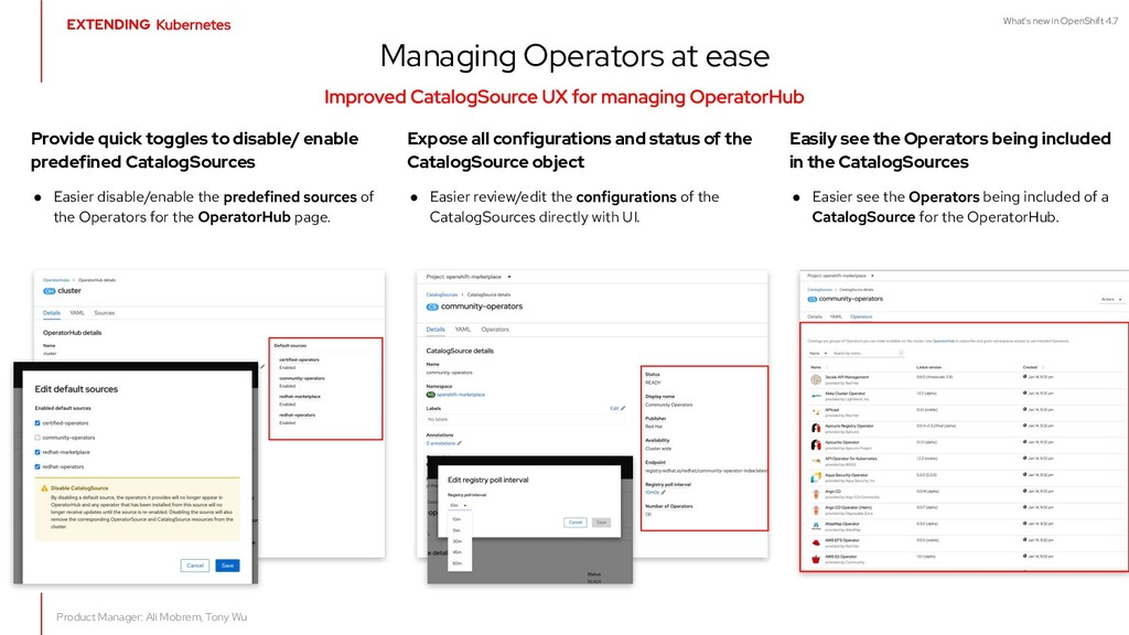 What's new in OpenShift 4.7 Provide quick toggl...