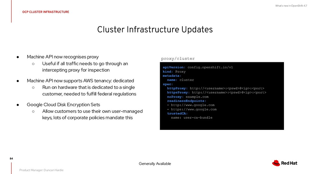 What's new in OpenShift 4.7 ● Machine API now r...