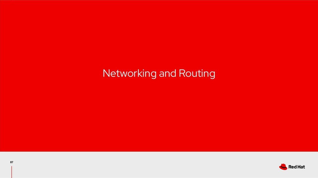 Networking and Routing