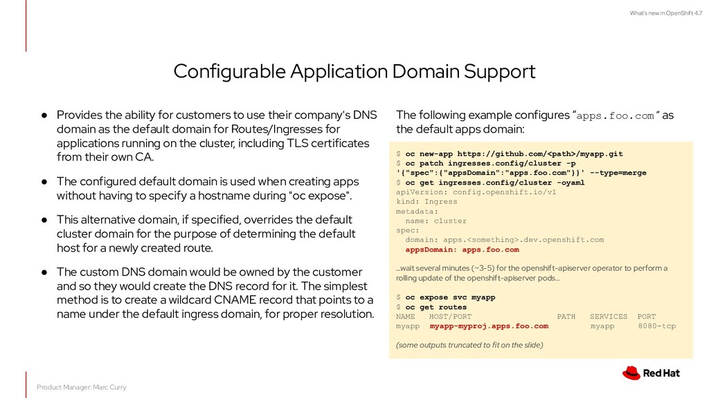 What's new in OpenShift 4.7 Configurable Applic...