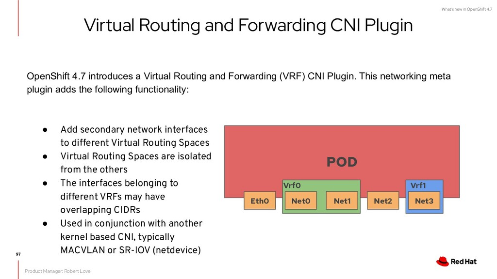 What's new in OpenShift 4.7 Virtual Routing and...