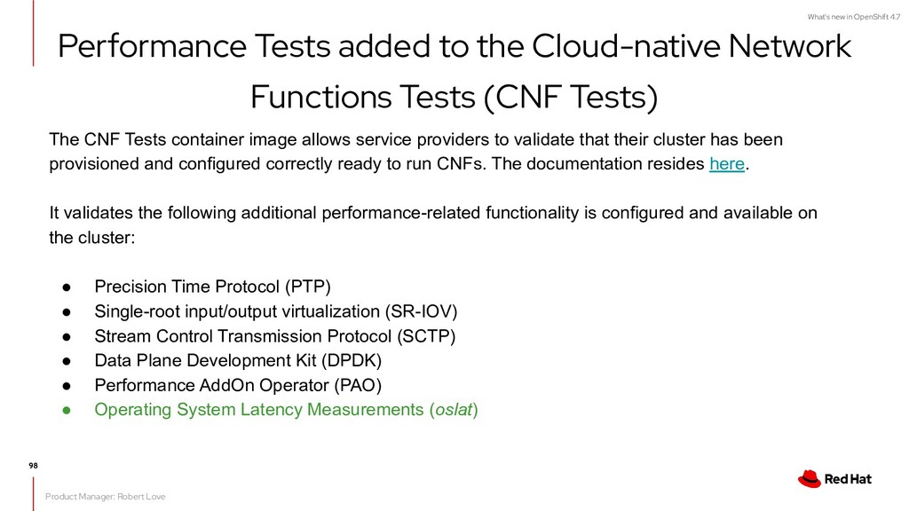 What's new in OpenShift 4.7 Performance Tests a...