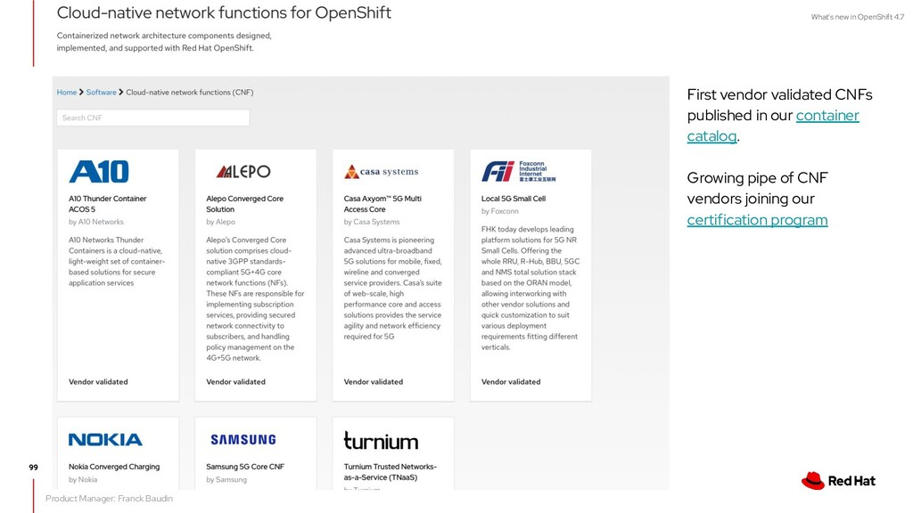 What's new in OpenShift 4.7 First vendor valida...