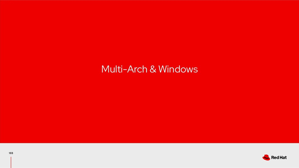 Multi-Arch & Windows
