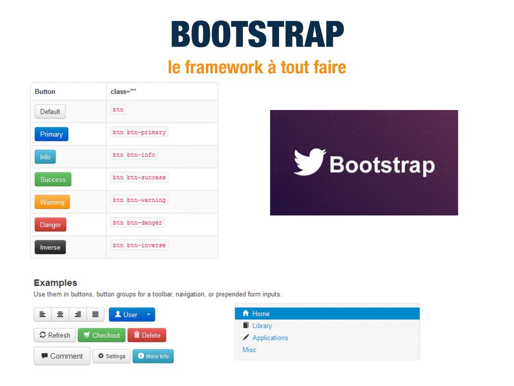 BOOTSTRAP le framework à tout faire