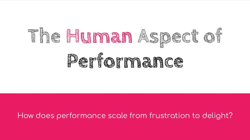 The Human Aspect of Performance How does perfor...