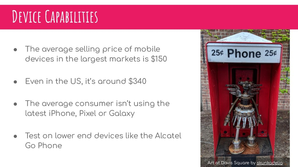 Device Capabilities ● The average selling price...