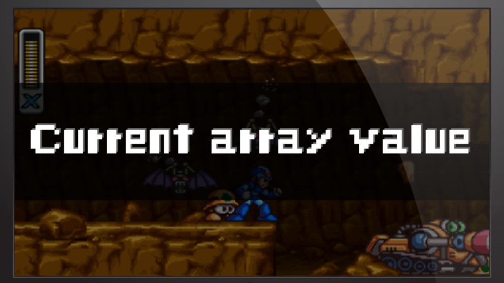 Current array value