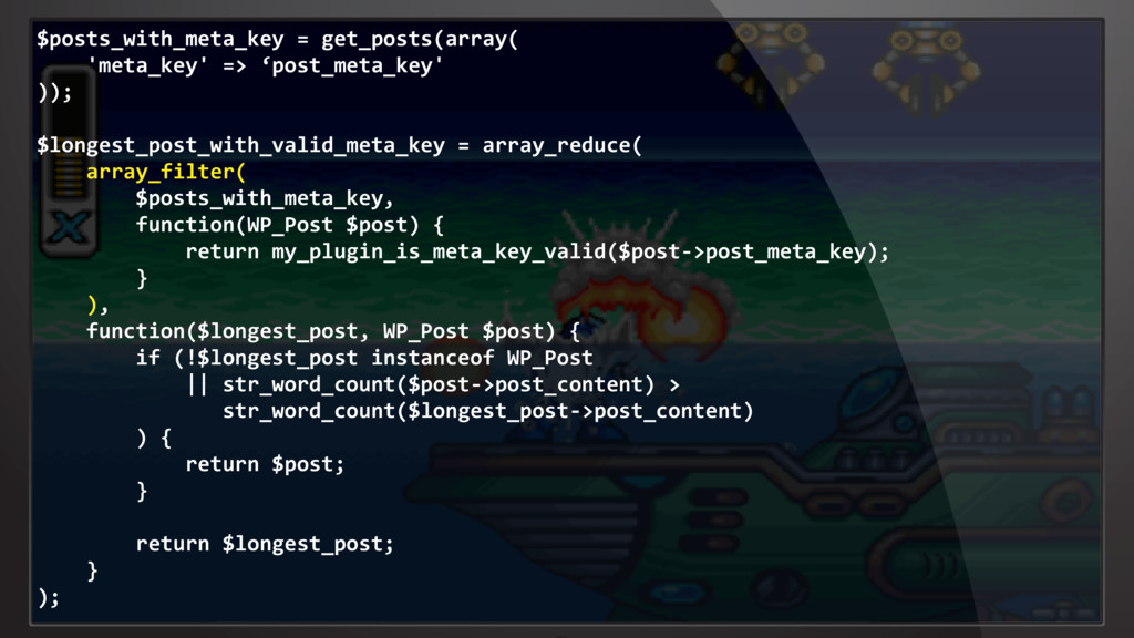 $posts_with_meta_key = get_posts(array( 'meta_k...