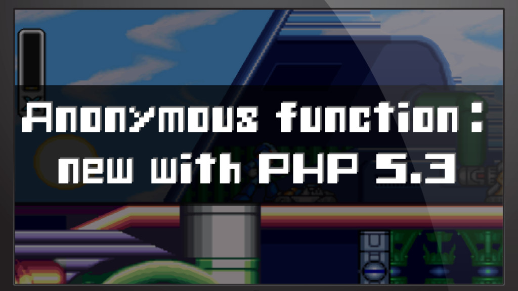 Anonymous function: new with PHP 5.3