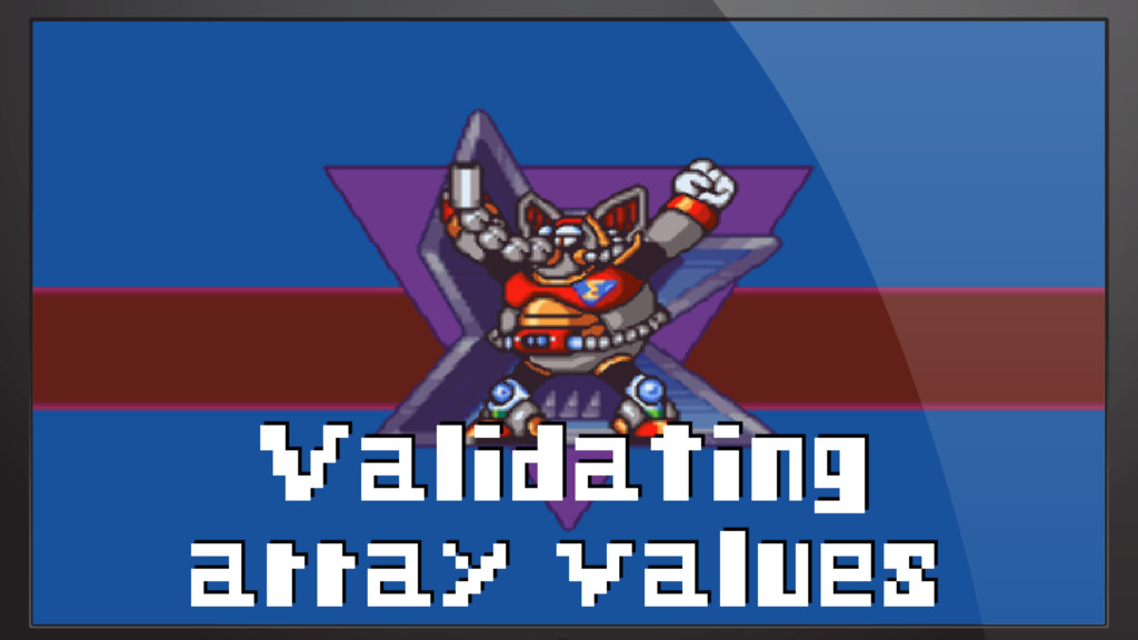 Validating array values