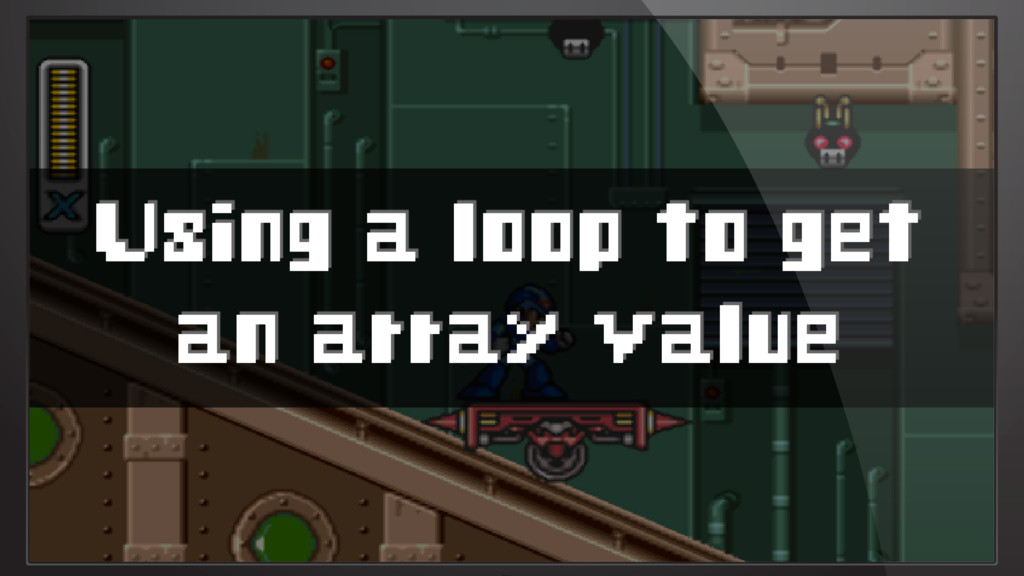 Using a loop to get an array value