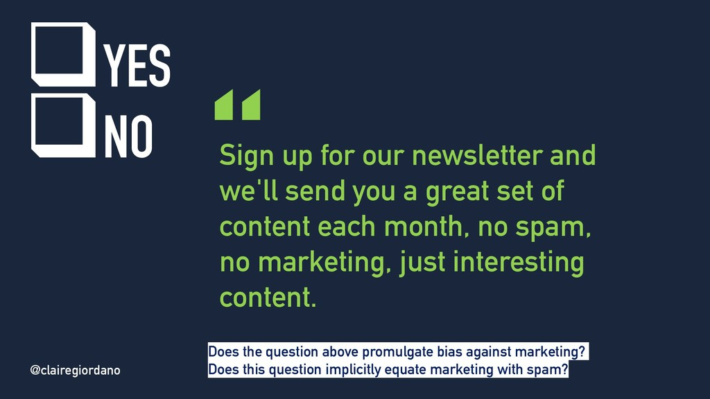 @clairegiordano Sign up for our newsletter and ...