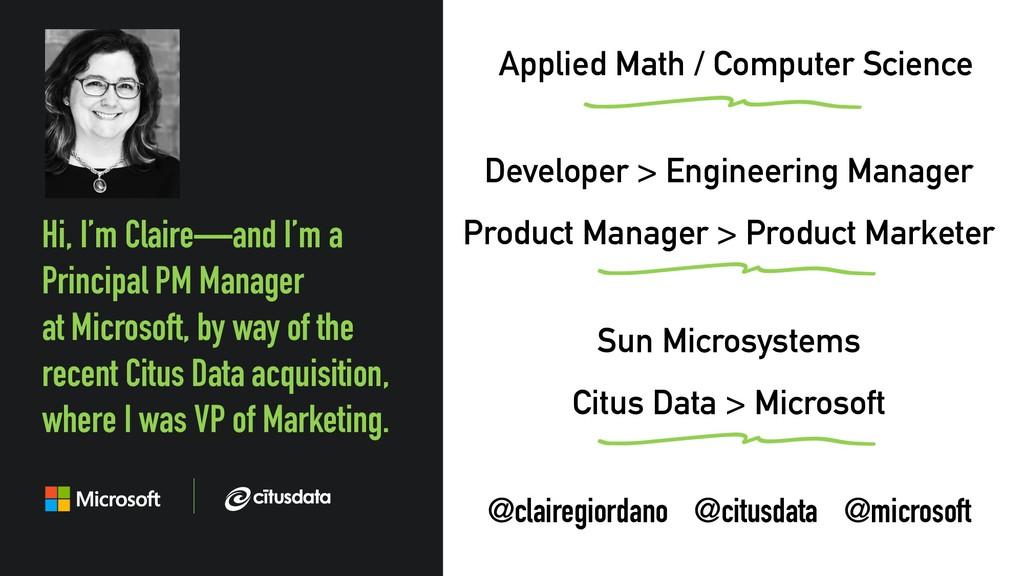 @clairegiordano Developer > Engineering Manager...