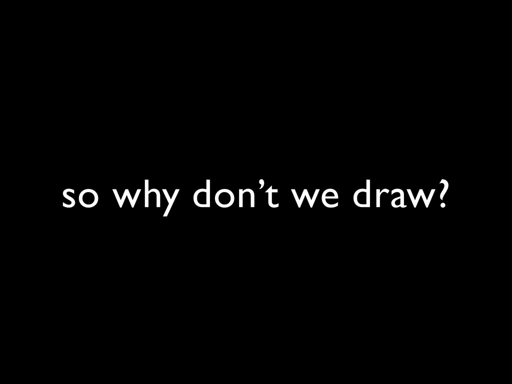 so why don't we draw?