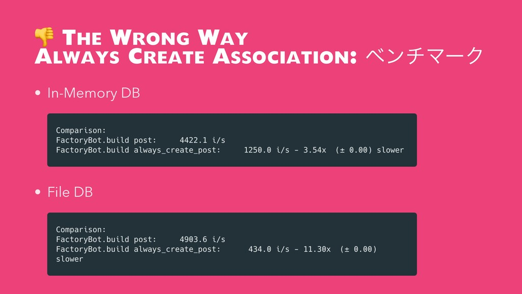 The Wrong Way Always Create Association: ϕϯνϚʔ...