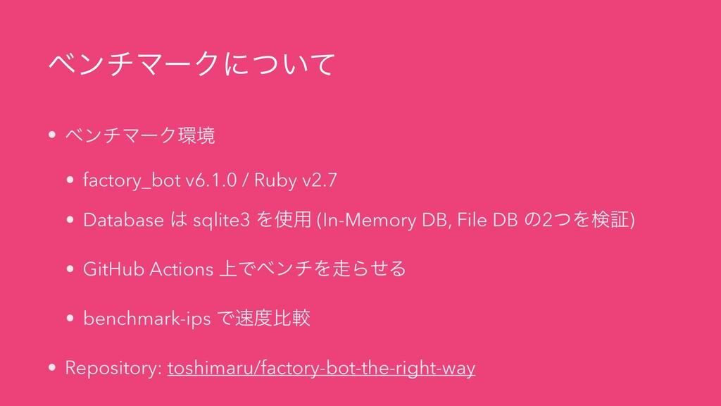 ϕϯνϚʔΫʹ͍ͭͯ • ϕϯνϚʔΫڥ • factory_bot v6.1.0 / Ru...