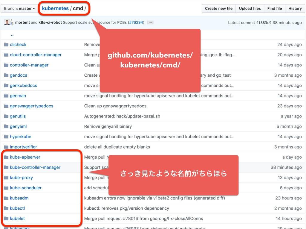 github.com/kubernetes/ kubernetes/cmd/ ͖ͬ͞ݟͨΑ͏ͳ...