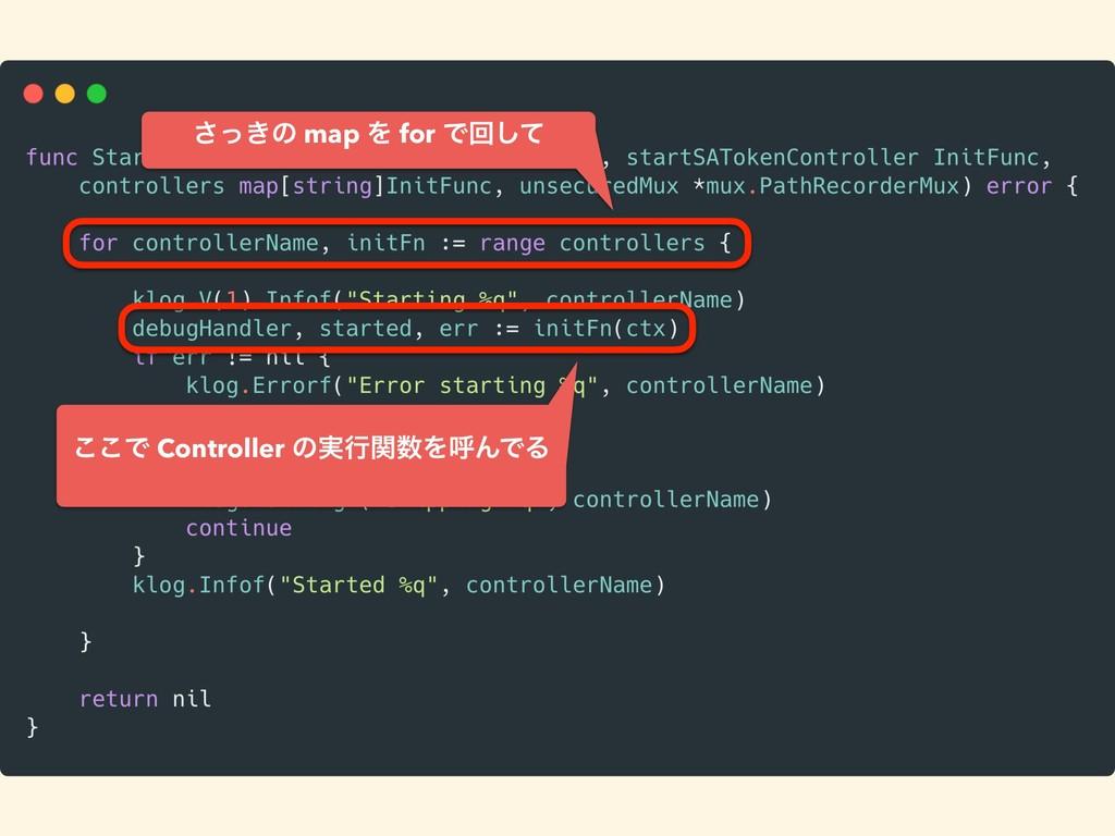 ͖ͬ͞ͷ map Λ for Ͱճͯ͠ ͜͜Ͱ Controller ͷ࣮ߦؔΛݺΜͰΔ