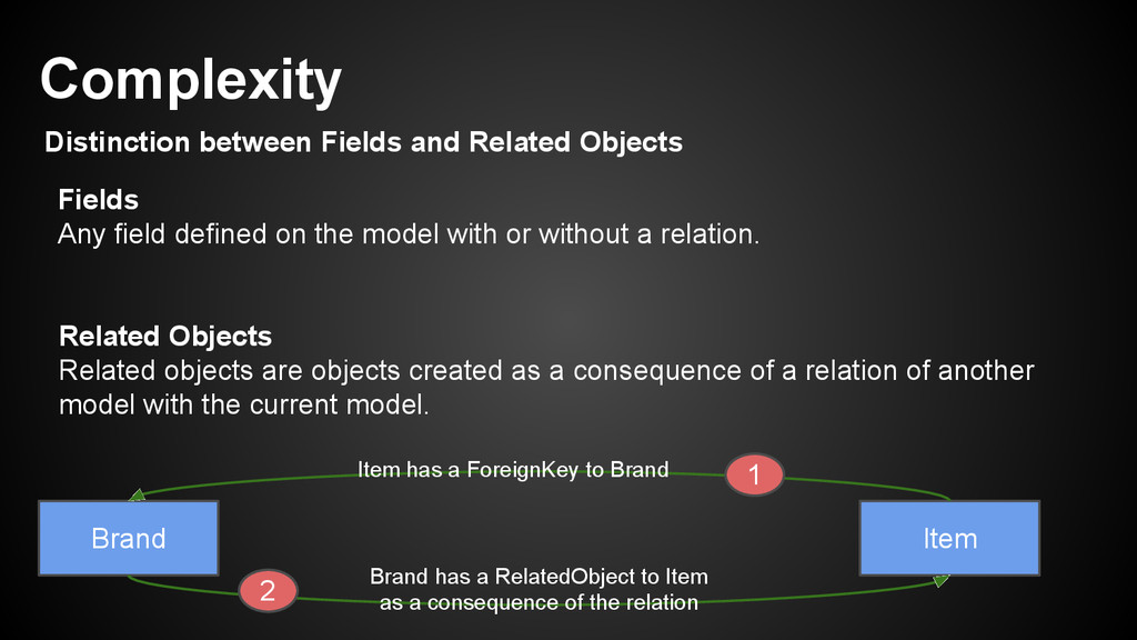 Distinction between Fields and Related Objects ...