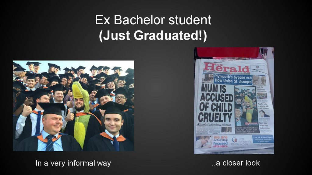 Ex Bachelor student (Just Graduated!) In a very...