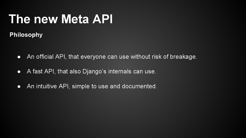 ● An official API, that everyone can use withou...