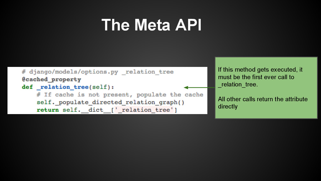 The Meta API If this method gets executed, it m...