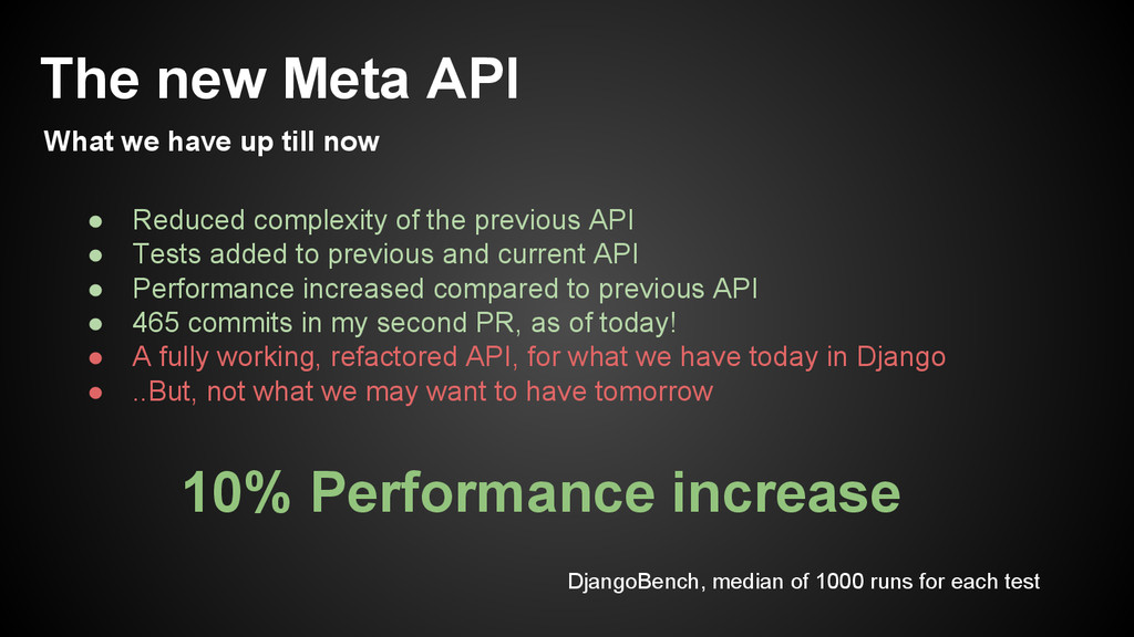 ● Reduced complexity of the previous API ● Test...