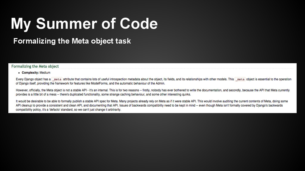 My Summer of Code Formalizing the Meta object t...