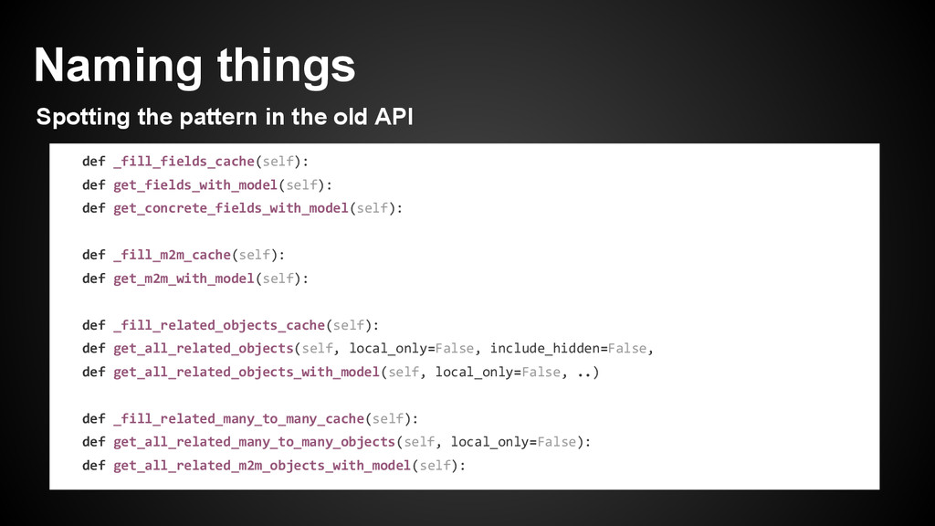 Naming things Spotting the pattern in the old A...