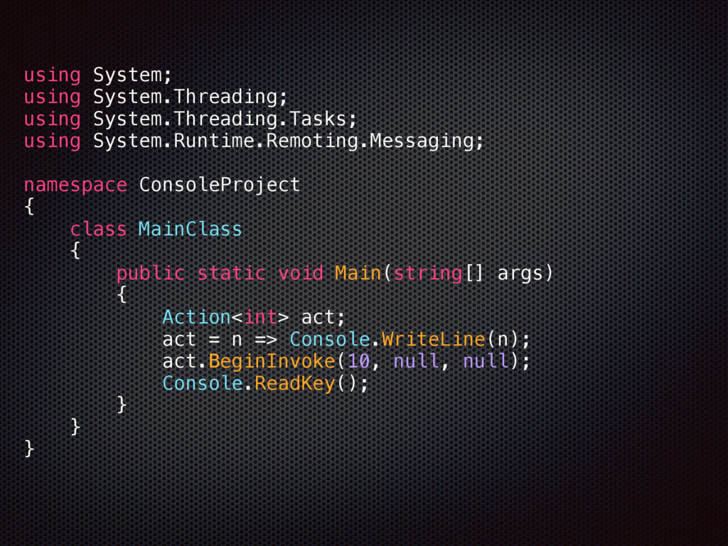 using System; using System.Threading; using S...