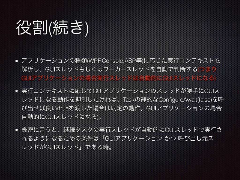 ׂ(ଓ͖) ΞϓϦέʔγϣϯͷछྨ(WPF,Console,ASP)ʹԠ࣮ͨ͡ߦίϯςΩε...