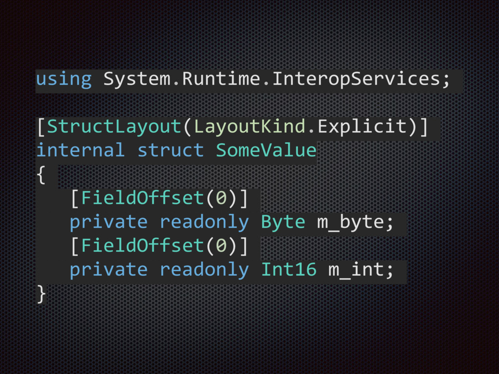 using System.Runtime.InteropServices;  [S...