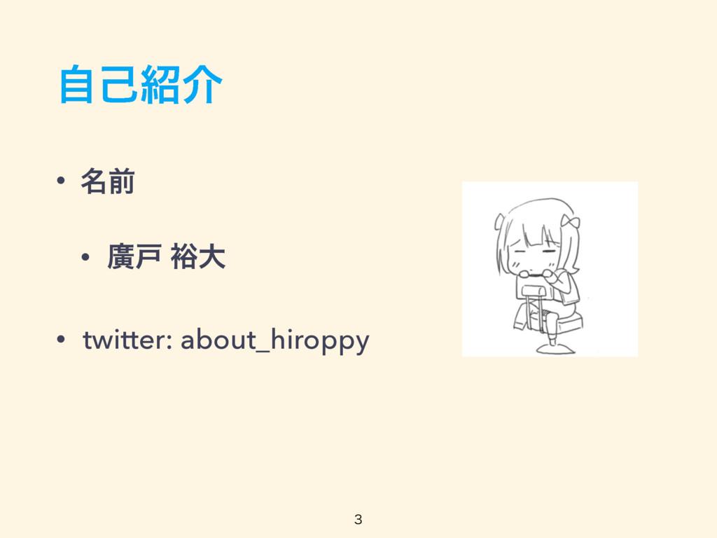 ࣗݾհ • ໊લ • ኍށ ༟େ • twitter: about_hiroppy