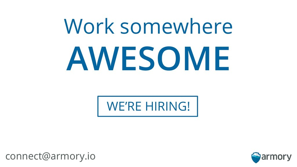 WE'RE HIRING! Work somewhere AWESOME connect@ar...