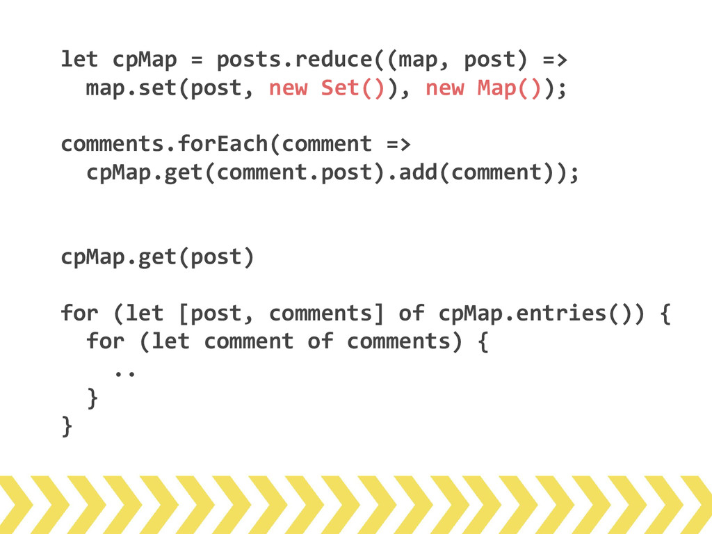 let cpMap = posts.reduce((map, post) => map.set...