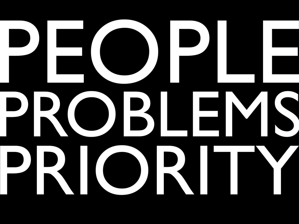 PEOPLE PROBLEMS PRIORITY